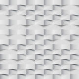 Abstract 3d geometric background. White seamless texture with shadow. Simple clean white background texture. 3D Vector interior wa Royalty Free Stock Photography