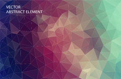 Abstract 2D geometric colorful background. Design for web. Stock Image