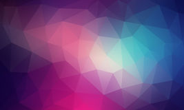 Abstract 2D geometric colorful background. Flat style Royalty Free Illustration