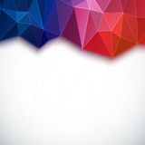 Abstract 3D geometric colorful background. Royalty Free Stock Photo