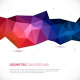 Abstract 3D geometric colorful background. Vector illustration for your design Royalty Free Illustration