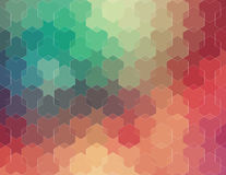 Abstract 2D geometric colorful background Stock Photos