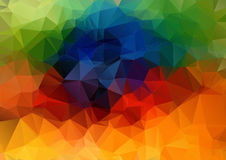 Abstract 2D geometric colorful background. For web design Stock Illustration
