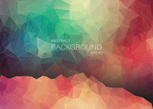 Abstract 2D geometric colorful background. For web design Royalty Free Illustration