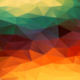 Abstract 2D geometric colorful background Stock Image