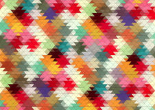 Abstract 2D geometric colorful background Stock Images