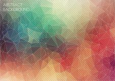 Abstract 2D geometric colorful background. For your design Vector Illustration