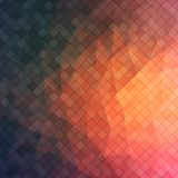 Abstract 2D triangle background with square shapes. Abstract 2D geometric colorful background for your design Vector Illustration