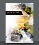 Abstract 3D geometric colorful cover. Eps 10 Royalty Free Stock Image