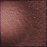 Abstract 3D geometric illustration. Sphere on crumpled paper background Royalty Free Stock Photography