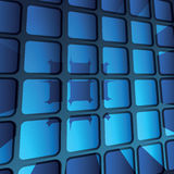 Abstract 3D Geometric Mosaic Background. Blue 3D Geometric Mosaic Pattern Background Design - Illustration in Freely Scalable and Editable Vector Format Stock Photography