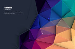Abstract 3D Geometric, Polygonal, Triangle pattern. Vector illustration white paper (blank space for your content) on Abstract 3D Geometric, Polygonal, Triangle Royalty Free Stock Photo