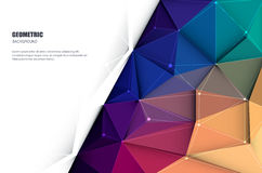Abstract 3D Geometric, Polygonal, Triangle pattern 3-8-16_2. Vector illustration white paper (blank space for your content) on Abstract 3D Geometric, Polygonal Royalty Free Stock Photography