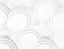 Abstract 3d geometric seamless pattern. White stock illustration