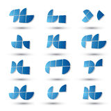 Abstract 3d geometric simplistic symbols set, vector abstract ic Royalty Free Stock Image