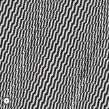 Abstract 3D geometrical background. Black and white grainy design. Pointillism pattern with optical illusion. Stippled vector illustration stock illustration