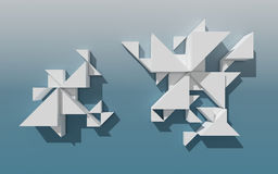 Abstract 3D Geometrical Design Royalty Free Stock Photo