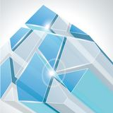 Abstract 3d geometricbroken glass line Royalty Free Stock Images