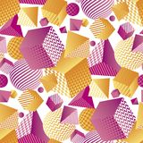 Abstract 3d geometrisch naadloos patroon Royalty-vrije Stock Foto's