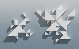 Abstract 3D Geometrisch Ontwerp Stock Fotografie