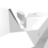 Abstract 3D geometry made of triangles. Polygonal rendered geometry made of blocks. Light and shade vector illustration