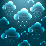 Abstract 3D glass graphics for design. Vector infographics. Abstract 3D glass clouds for design Vector Illustration