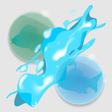 Abstract 3D Glass Graphics. Vector illustration royalty free illustration