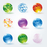 Abstract 3d glossy  spheres. Stock Photos