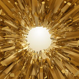 Abstract 3d golden crystallized background Royalty Free Stock Photo