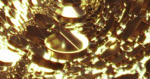 Abstract 3D graphics Background with golden pills. Abstract 3D graphics Background with golden bubbles. Motion graphic, digital texture vector illustration