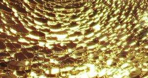Abstract 3D graphics Background with golden pills. Abstract 3D graphics Background with golden bubbles. Motion graphic, digital texture royalty free illustration