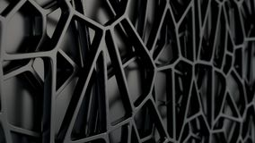 Abstract 3d grate on black background. Abstract black 3d grate on black background. Speaker grille. Chaotic line structure. 3D render illustration Vector Illustration