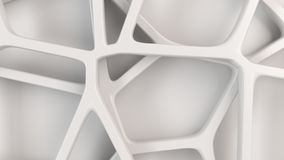 Abstract 3d grate on white background. Abstract white 3d grate on white background. Speaker grille. Chaotic line structure. 3D render illustration Royalty Free Illustration