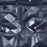 Abstract 3d gray metal background with shiny facets. Gray and silver pattern of metal blocks Stock Images
