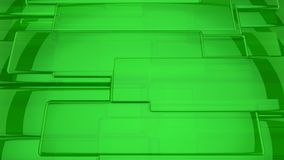 Abstract 3D green background. Abstract green highlights, 3D computer rendering a brilliant generation of glass surface Royalty Free Stock Photo