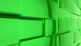 Abstract 3D green background. Abstract green highlights, 3D computer rendering a brilliant generation of glass surface stock illustration
