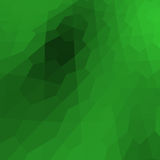 Abstract 3D green polygons background. Polygonal rendered geometry made of blocks. Light and shade vector illustration