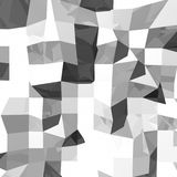 Abstract 3D grey polygonal geometry. Polygonal rendered geometry made of blocks. Light and shade Royalty Free Stock Image