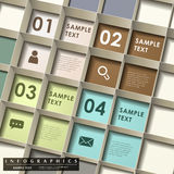 Abstract 3d grid infographics. Vector abstract 3d grid infographic elements Stock Photography