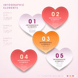 Abstract 3d heart shape tag infographics. Vector abstract 3d heart shape tag infographic elements vector illustration