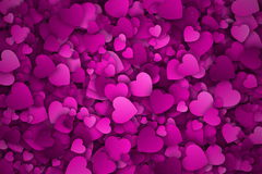 Abstract 3d Hearts Vector Background. With Subtle Halftone Texture stock illustration