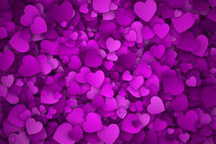 Abstract 3d Hearts Vector Background. With Subtle Halftone Texture royalty free illustration