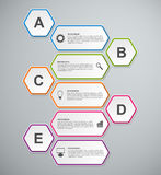 Abstract 3D hexagon business options infographics template. Royalty Free Stock Photography