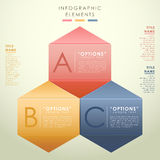 Abstract 3d hexagon infographics. Vector abstract 3d hexagon infographics. can be used for workflow layout, diagram, number options, web design Royalty Free Stock Photography