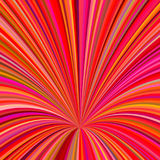 Abstract 3d hole background - vector graphic from swirling rays. In red and colorful tones Stock Photography