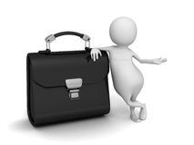 Abstract 3d Human With Briefcase. 3d Render illustration Stock Photo