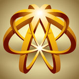 Abstract 3d icon, impossible shape. Royalty Free Stock Photos