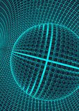 Abstract 3d Illuminated distorted Mesh Sphere . Neon Sign . Futuristic Technology HUD Element . Elegant Destroyed . Big. Data Stock Images
