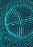 Abstract 3d Illuminated distorted Mesh Sphere . Neon Sign . Futuristic Technology HUD Element . Elegant Destroyed . Big. Data Stock Photos