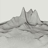Abstract 3d Illuminated distorted Mesh Sphere . Neon Sign . Futuristic Technology HUD Element . Elegant Destroyed . Big. Data vector illustration